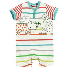 Catimini - Multicoloured striped jumpsuit - 29737