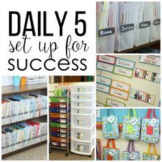 Setting Up For A Successful Year Of Daily 5 -Tips, organization and ideas to start slow to go far.
