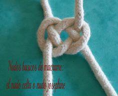 tutoriales de bisuteria DIY: nudos básicos de macramé: el nudo celta o nudo josephine
