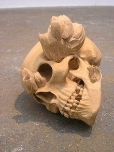 Ricky Swallow Skull Skull Art, Swallow, Lion Sculpture, Statue, Swallows, Skulls, Sculptures, Sculpture, Sugar Skull Art