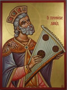 High quality hand-painted Orthodox icon of Prophet King David. BlessedMart offers Religious icons in old Byzantine, Greek, Russian and Catholic style. Byzantine Art, Byzantine Icons, David Painting, Rey David, Paint Icon, Christian Artwork, King David, Religious Icons, Orthodox Icons