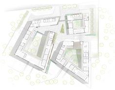 Innovative Bioclimatic European School Third Prize Winning Proposal (14) Architecture Graphics, Concept Architecture, Architecture Design, Block Plan, Win Prizes, School Building, Master Plan, Urban Planning, Building Design