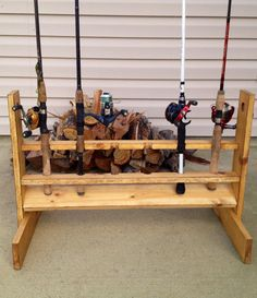 Fishing rod holder by RusticByDesigns on Etsy, $40.00