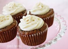 Pineapple Zucchini Cupcakes with Cream Cheese Frosting - A deliciously healthy cupcake made with whole wheat flour, fruit, vegetables and dairy - what's not to love?!