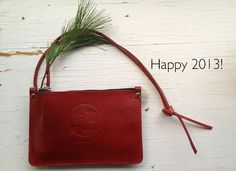 Small but sweet, hand dyed red Spring Finn & Co pouch, special order for the holidays a keeper for many years