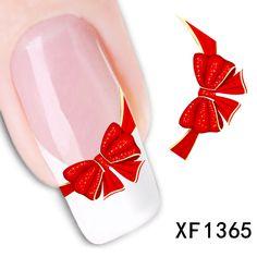 Xf1365-fashion Новый стиль вода 1 лист(ов) 3D дизайн DIY ногтей украшения ногтей ногтей наклейка наклейка-бесплатная ногтей инструменты
