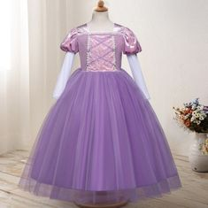 Buy Princess Cinderella Sofia Rapunzel Dresses Full Ball Gown Long Party Dress Kids Cosplay Christmas Halloween Costume Masquerade at Wish - Shopping Made Fun Rapunzel Dress, Wish Shopping, Masquerade, Ball Gowns, Cinderella, Party Dress, Halloween Costumes, Cosplay, Princess