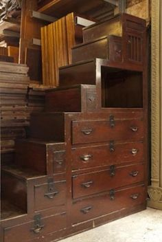 Japanese staircase chest