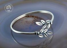 olive leaves silver bracelet, leaf bracelet, olive leaf bracelet, greek bracelet, sterling silver bracelet, greek jewelry, greek, olive leaf by GreekGoddessJewelry on Etsy