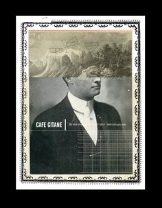 Postcard design for Cafe Gitane, NYC, by chris ferebee