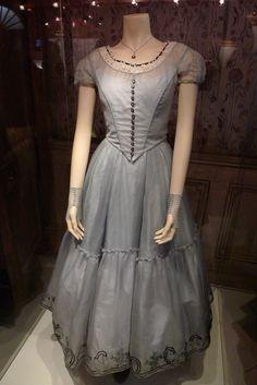 Alice's dress when she falls down the rabbit hole