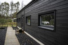House Made, Black House, Sweden, Tiny House, Porch, Villa, Home And Garden, Cottage, Bear