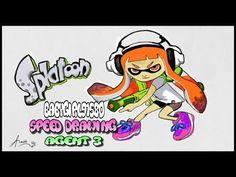 Splatoon Speed Drawing in Nintendo's Wii U Art Academy