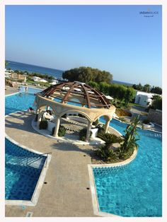 The imposing Pool Dome! #summer #Lindian #Rhodes #dive More at lindianvillage.gr/Hotel_Photo_Gallery/