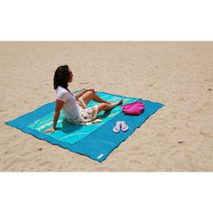 CGear Sand Free Multimat CGear Sand Free Mat Blue / Green Outdoor Area Rug