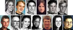 On 20 April 1999 Eric Harris and Dylan Klebold, two students from the Columbine High School went on a shooting rampage killing 12 students and one teacher and wounding many others