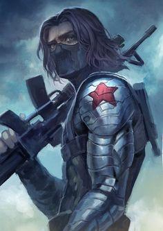 "The Winter Soldier, James ""Bucky"" Buchanan Barnes (Artist Unknown ...)"