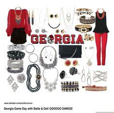 Georgia Football - Stella & Dot Style  www.stelladot.com/jennifercannon