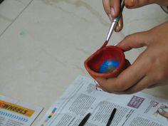 painting diyas