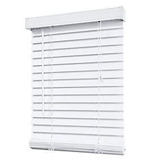 2 inch faux wood blind white 24 inch x 48 inch