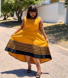 LOVELY XHOSA DRESSES not only are beautiful but believed to boost a ladies confidence an event, IT can make a lady feel glamorous African Attire For Men, African Dresses For Women, African Print Dresses, African Print Fashion, Africa Fashion, African Prints, African Outfits, African Clothes, African Wear