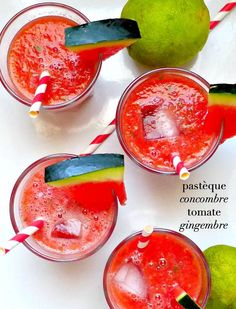 Gaspacho à la pastèque, concombre, tomate et gingembre - Very Easy Kitchen