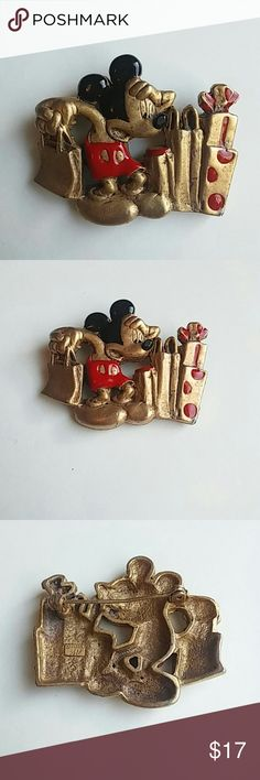 Vintage Mickey Mouse pin It has a working turning clasp. Very cool and in great shape!! Jewelry Brooches