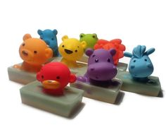 Bumbly Buddy - Autism Fundraiser - fruity bubblegum soap with bath toy. $8.00, via Etsy.