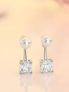 Stunning dolphin Round Diamond Stud Earrings is made up of copper alloy with white rothium with carat. Stock Clearance Sale, Diamond Earrings, Stud Earrings, Princess Cut Diamonds, Round Diamonds, White Gold, Jewelry, Jewlery, Jewerly