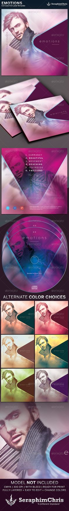 Emotions: CD Cover Artwork Template is customized for any photographer, author or recording artists and Poets that need a modern and unique look. It can be used for media players, iTunes sales, audio books, demos, mixtapes, DJ's, parties, weddings, and lots more. You can change colors and drop your photo in place with ease. Add this to your promotional arsenal for a maximum effect with your contemporary audience.