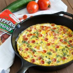 Pepperoni and Vegetables Frittata