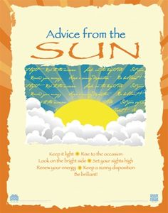 Advice from the Sun Poster - Advice from Nature
