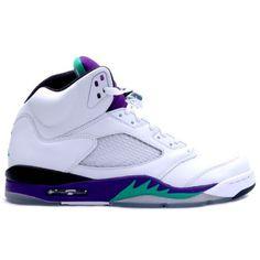 "Air Jordan 5 ""Grape"" Release Date ($90) ❤ liked on Polyvore featuring shoes, jordans, sneakers et footwear"