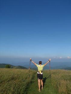@Jennifer Pharr Davis - hiking the Applalachain Trail & working on besting the men's speed record. Truly inspiring - Godspeed Jen!
