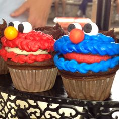 Delicious character cupcakes