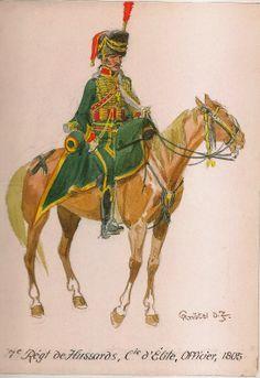 Ufficiale della compagnia di élite del 7 rgt. ussari
