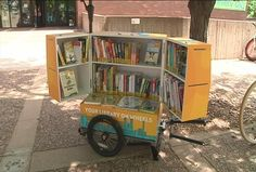 Have you ever found yourself looking for a good book, but don't want to go all of the way to the library? Well, thanks to a new book bike in Eau Claire you are in luck! The L.E. Phillips Memorial...