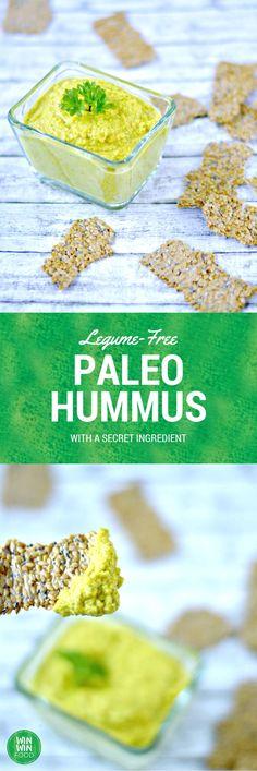 Zucchini Cauliflower Hummus -- [gluten-free, dairy-free, vegan, vegetarian, paleo, raw, grain-free, nut-free]
