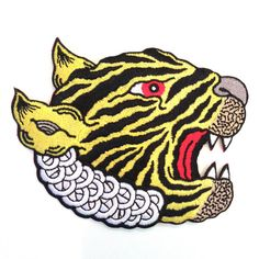 Matt Leines  Tiger Head Patch  six color embroidered by mattleines