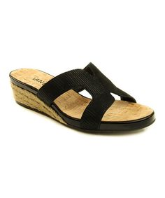 Look at this Black Kallita Leather Sandal on #zulily today!