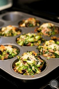Herb and Cheese Meatloaf Muffins