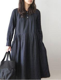 Smock dress | Slate grey | Simple |