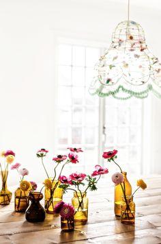 Blommor i vaser