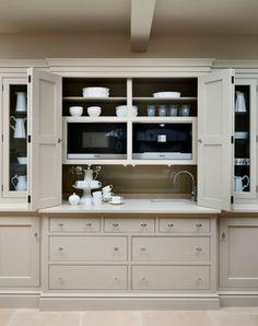New kitchen pantry doors appliance garage ideas Kitchen Interior, Kitchen Storage, Kitchen Remodel, New Kitchen, Kitchen Larder, Home Kitchens, Farmhouse Kitchen Design, Kitchen Renovation, Kitchen Design