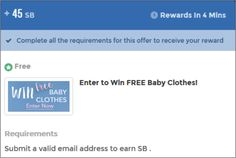 #ezOFFER Offer Name: Enter to Win FREE Baby Clothes Offer Value: 45 #swagbucks Offer Wall: Peanuts Lab http://swagbucks.com/discover/offer-walls/35/peanut-labs Offer Instructions: Complete #ezaspirin in #Firefox. Create a new email address. Complete and submit first page. Stop on second page and leave open. Offer credits instantly. #GoodLuck #HaveFun #ezswag