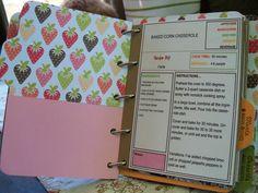 Scrapbook Recipe Card Ideas | Furloughed Time: Cookbook Scrapbook