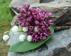 lilac and lilies of the valley bouquet