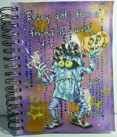 Art journal using Rick St.dennis digi