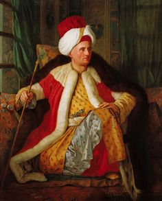The Earl of Salt Hendon wears Turkish fancy dress similar to this outfit to his Masquerade Ball [Comte de Vergennes in Turkish dress,1766] SALT REDUX #saltbride #saltredux #Georgian