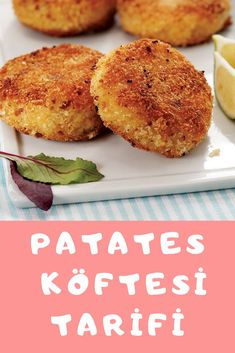 Patates KÖFTESİ Turkish Recipes, Ethnic Recipes, Turkish Delight, Salmon Burgers, Salsa, Muffin, Breakfast, Food, Morning Coffee
